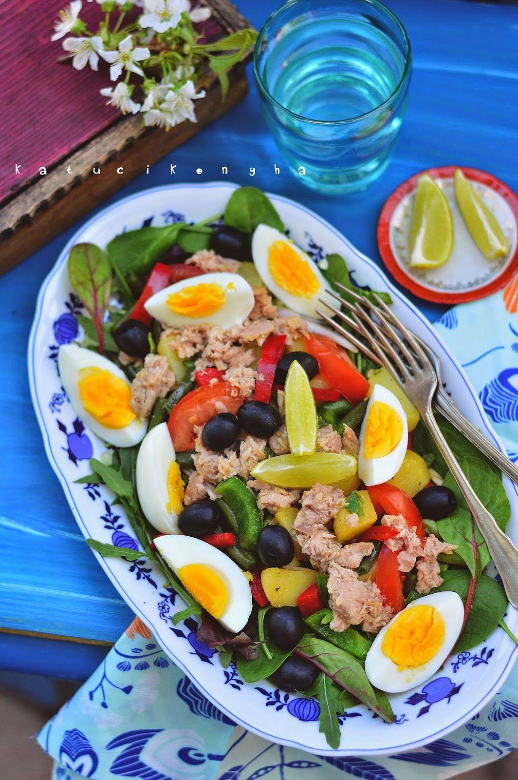Közös recept: nizzai saláta | Recept, Saláta, Étel és ital
