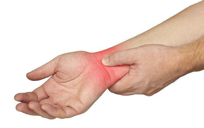 csukló-sprain a sérülés kezelése után)