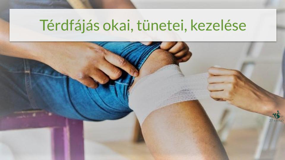 fájdalom és duzzanat a térdízületekben)