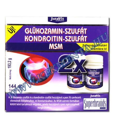 mely tabletták tartalmaznak kondroitint és glükózamint