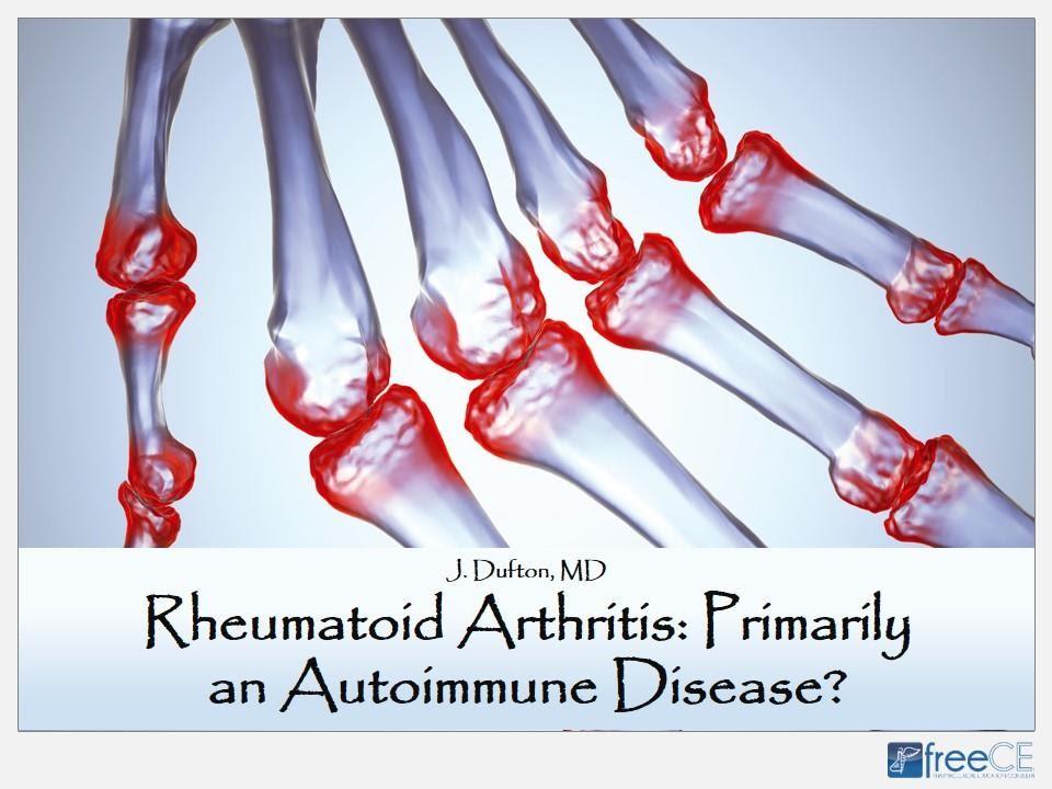 autoimmune disorder rheumatoid arthritis)